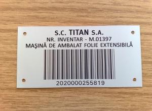 etichete metalice - inventar