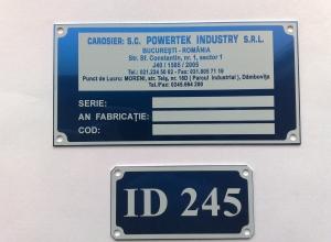 etichete metalice - powetek