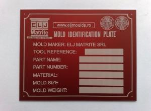 etichete metalice - matrite rosu