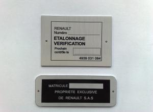 etichete metalice - renault
