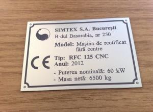 etichete metalice - cnc