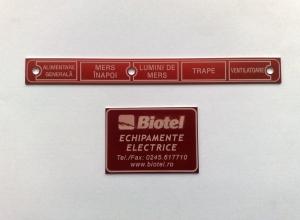 etichete metalice - echipamente electrice