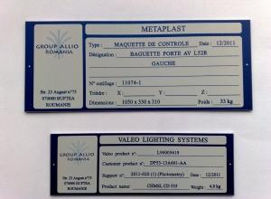 etichete metalice - maetaplast valeo